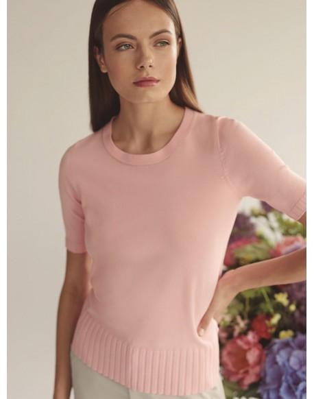 Escorpion pink knit sweater