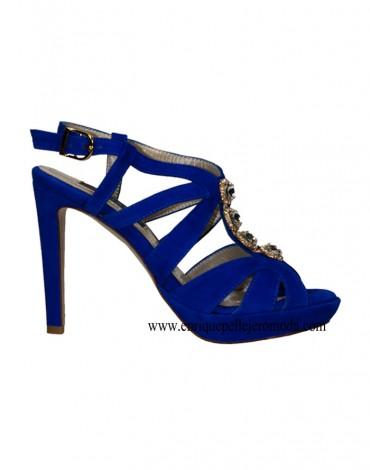 Daniela electric blue high heel sandals