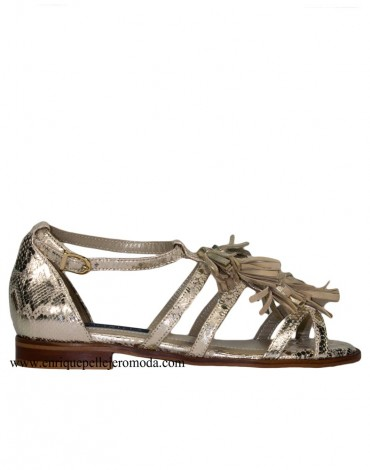 Daniela animal print flat sandal