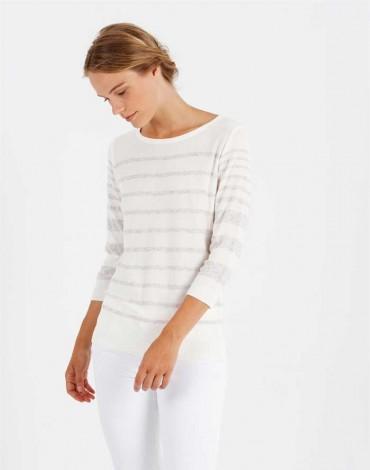 Escorpion suéter crudo manga larga