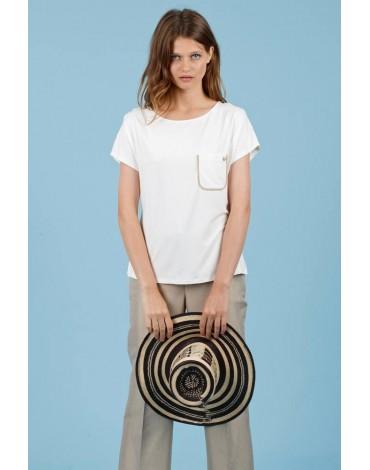 Hongo pocket beige t-shirt