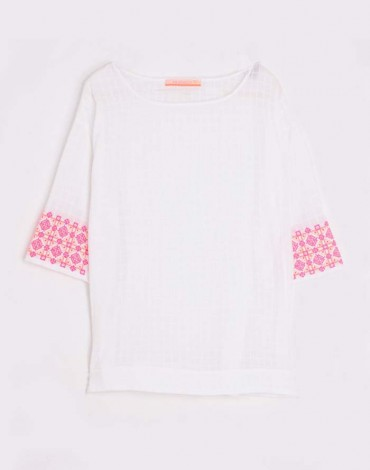 Vilagallo blusa blanca Casandra