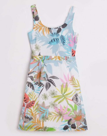 Vilagallo leaf print dress