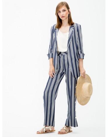 Vilagallo chaqueta clover navy stripes