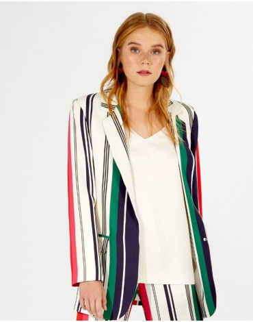 Vilagallo multicolored striped jacket
