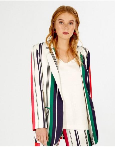 Vilagallo multicolored striped jacket