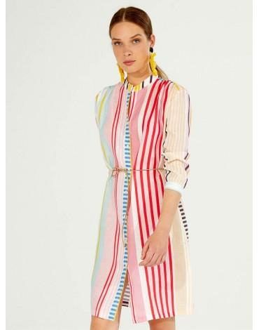 Vilagallo vestido multicolor rayas