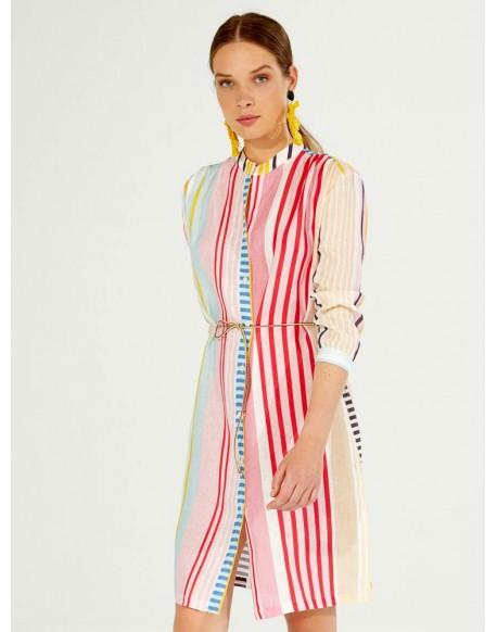 Vilagallo multicolored striped dress