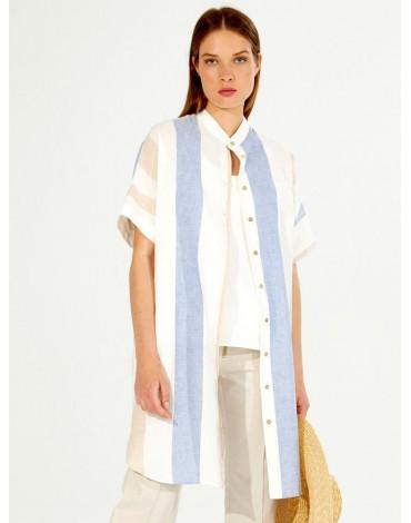 Vilagallo vestido camisero rayas