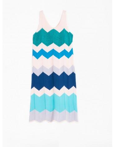 Vilagallo herringbone dress