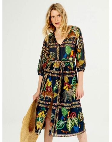 Vilagallo vestido estampado Minneriya