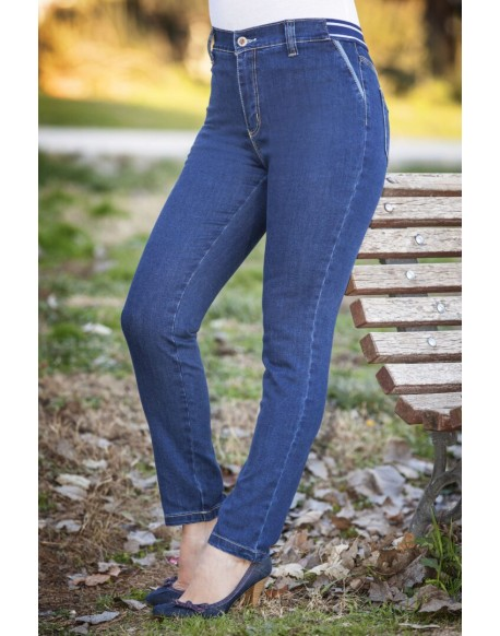 Waltron blue jeans with rubber waistband
