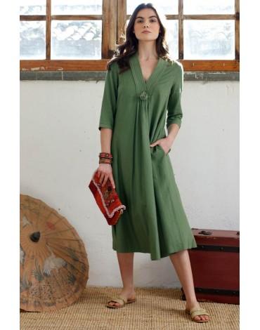 Hongo vestido verde