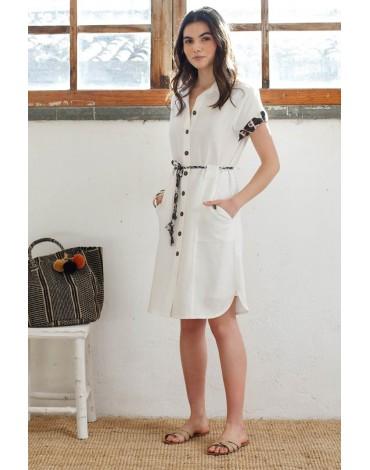 Hongo beige shirt dress