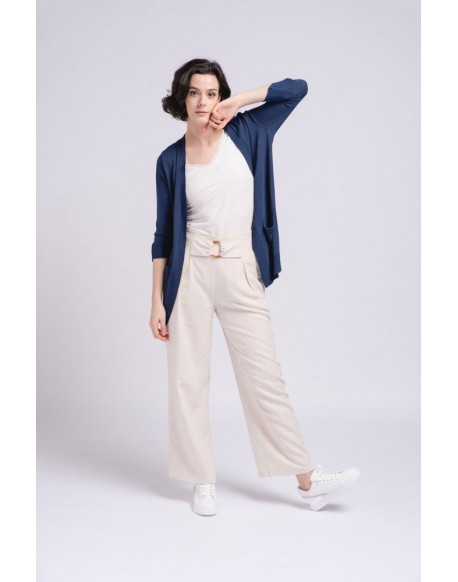 SMF navy blue knitted jacket