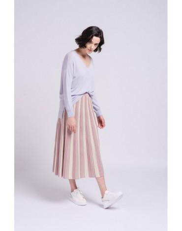 SMF long sleeve lavender sweater