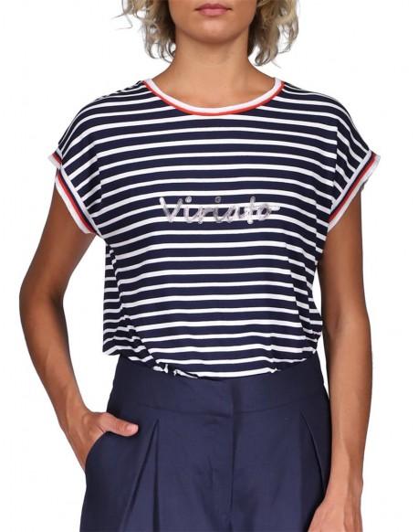 Viriato camiseta rayas marino