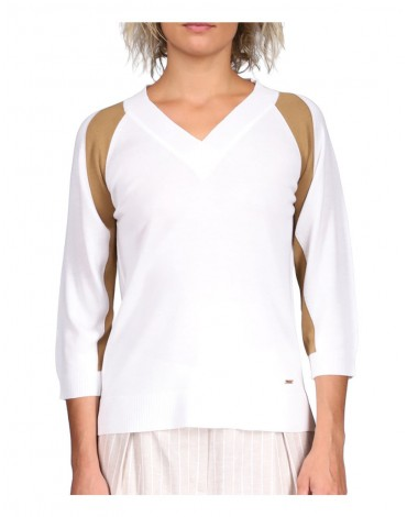 Viriato two-tone v-neck sweater