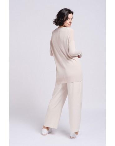 SMF long beige sweater woman