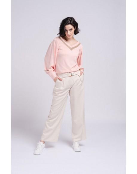 SMF jersey pico rosa mujer