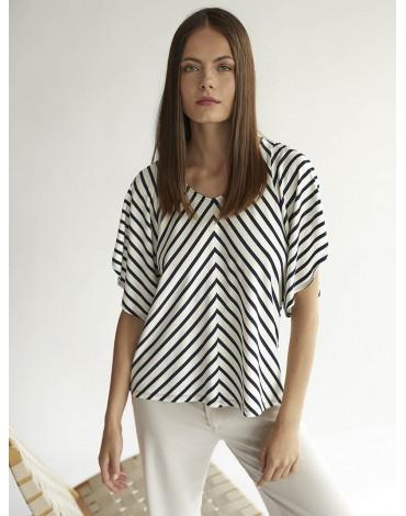 Escorpion women's striped t-shirt