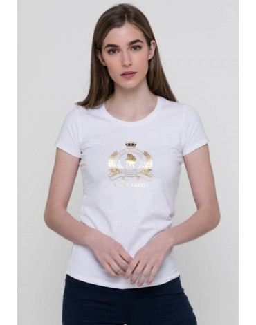 Valecuatro camiseta blanca corona