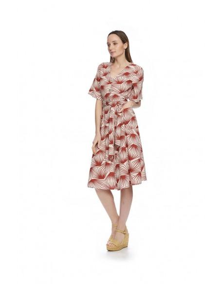 MdM palm tree print dress
