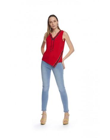 MdM camiseta tirantes roja