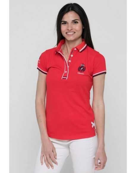 Valecuatro red polo shield