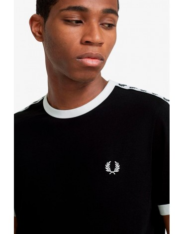 Fred Perry camiseta negra cinta deportiva