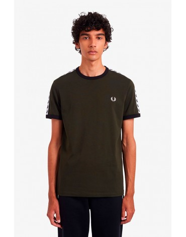 Fred Perry green t-shirt with sports tape