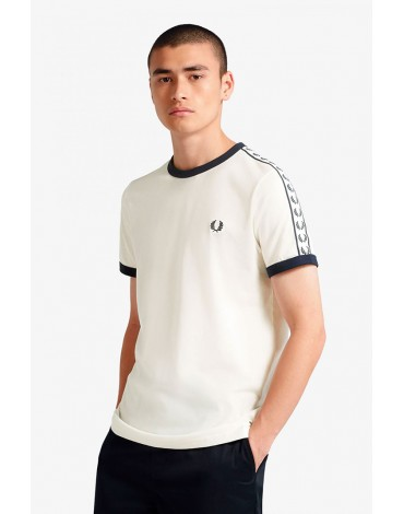 Fred Perry white t-shirt sports tape
