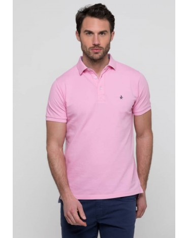 Valecuatro pink polo shirt man