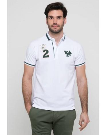 Valecuatro white polo shirt VL4