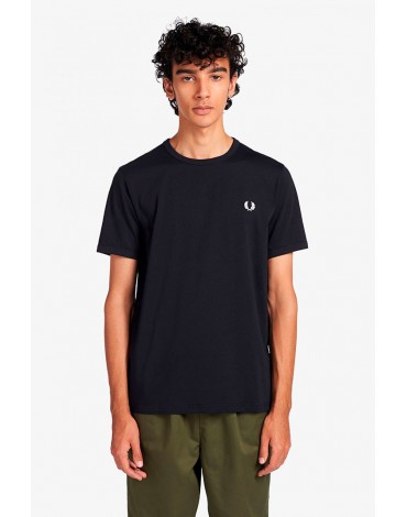 Fred Perry navy ringer t-shirt