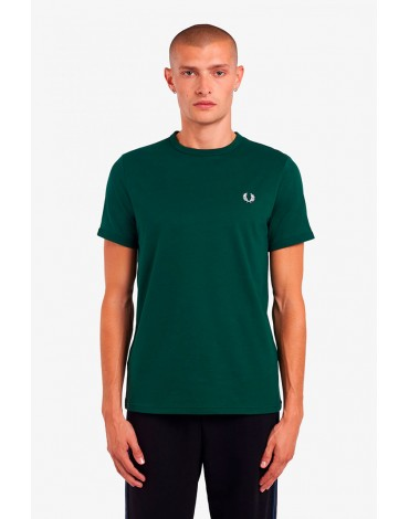 Fred Perry camiseta verde ringer hombre