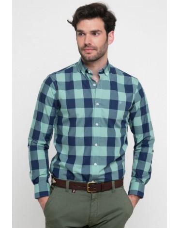 Valecuatro camisa cuadros verde