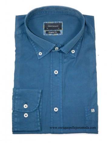 Pertegaz plain blue shirt