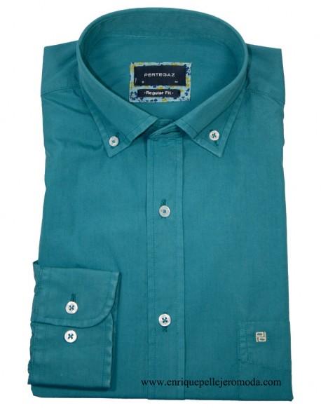 Pertegaz men's green shirt