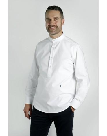 Camisa polera blanca Enrique Pellejero