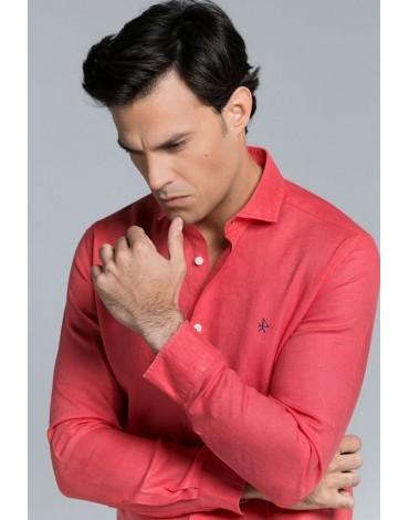 Valecuatro camisa lino coral