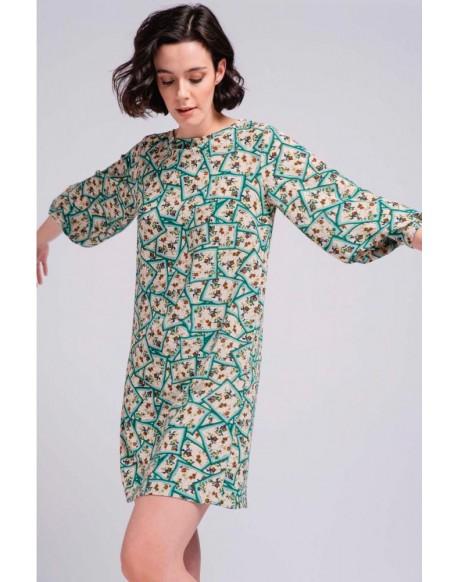 SMF green print dress