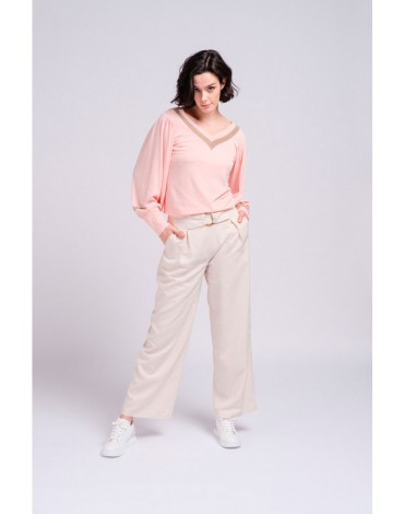 SMF wide beige pants