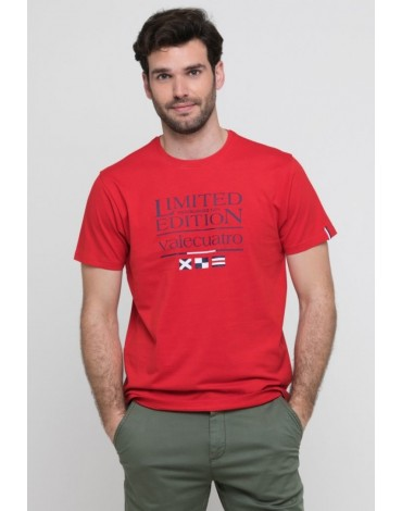 Valecuatro red t-shirt limited