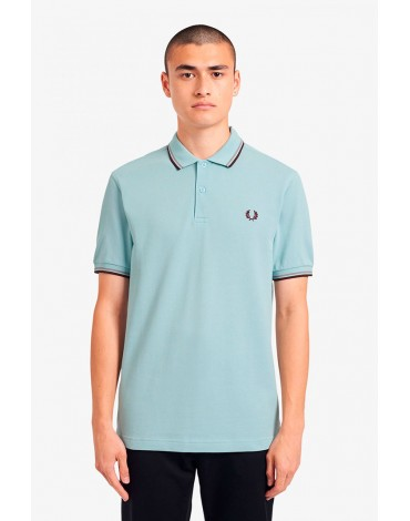 Fred Perry polo shirt jade trims M3600