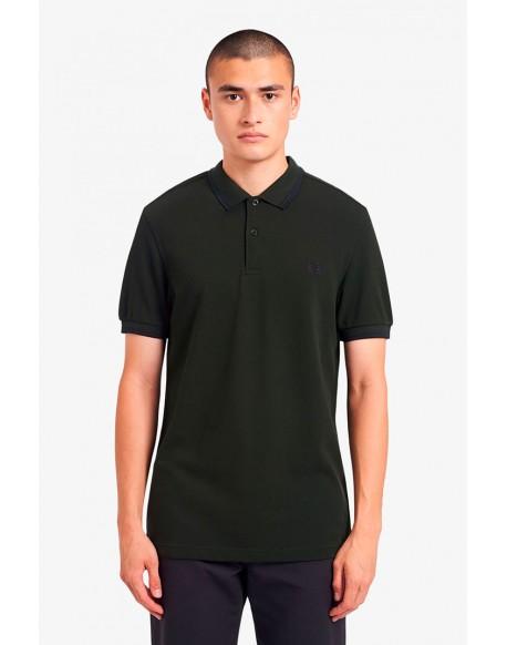 Fred Perry striped khaki polo shirt M3600