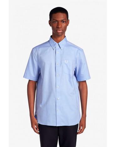 Fred Perry short sleeve light blue shirt