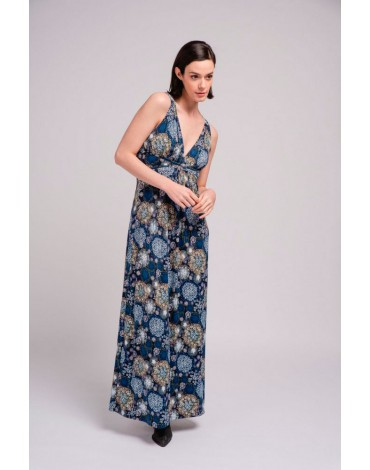 SMF vestido largo estampado