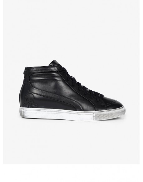 Scalpers sneakers black leather boots