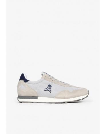 Scalpers sneakers piel ante gris